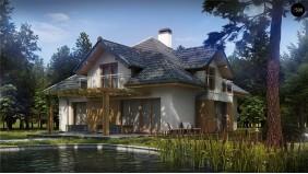 Проект Z270 A Версия проекта Z270 с альтернативной планировкой мансардного этажа.  Проекты домов и гаражей