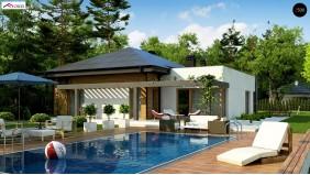 Проект Z271 Современный дом с остроконечной крышей бунгало  Проекты домов и гаражей