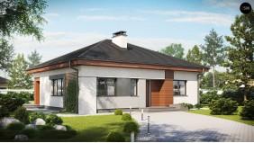 Проект Z273 Проект стильного одноэтажного дома в классическом стиле.  Проекты домов и гаражей