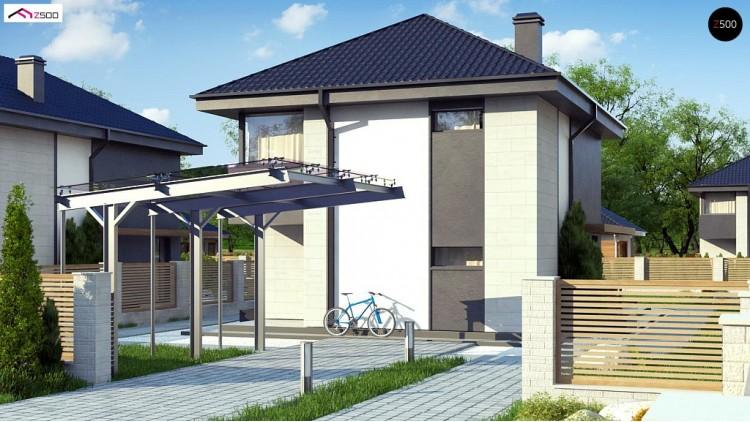 Проект Z276 Современный двухэтажный дом с практичной планировкой  Проекты домов и гаражей