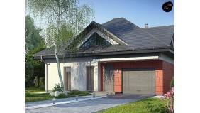 Проект Z278 S Проект одноэтажного дома Z278 адаптированный под строительство в сейсмических районах  Проекты домов и гаражей