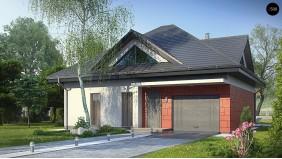Практичный дом со встроенными гаражом, с большой площадью остекления в гостиной - Z278