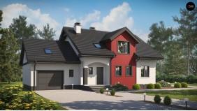Проект Z28 GL Версия проекта Z28 с пристроенным гаражом.  Проекты домов и гаражей