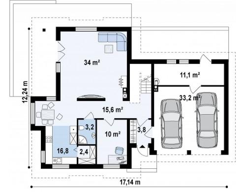 Комфортабельный дом с интересными мансардными окнами, с гаражом на два авто - Z286