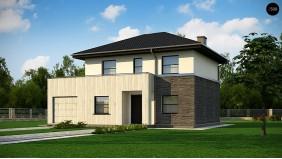 Проект Z29 minus Обновленный вариант Z29 с гаражом и комнатой на первом этаже  Проекты домов и гаражей
