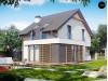 Проект дома простой энергосберегающей формы со светлым интерьером, подходящий для узкого участка - Z290