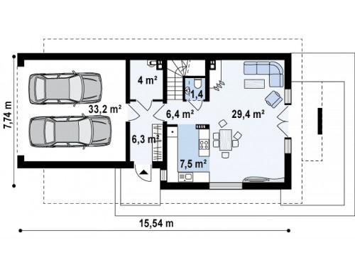 Практичный и уютный дом, идеально подходящий для вытянутого участка - Z292