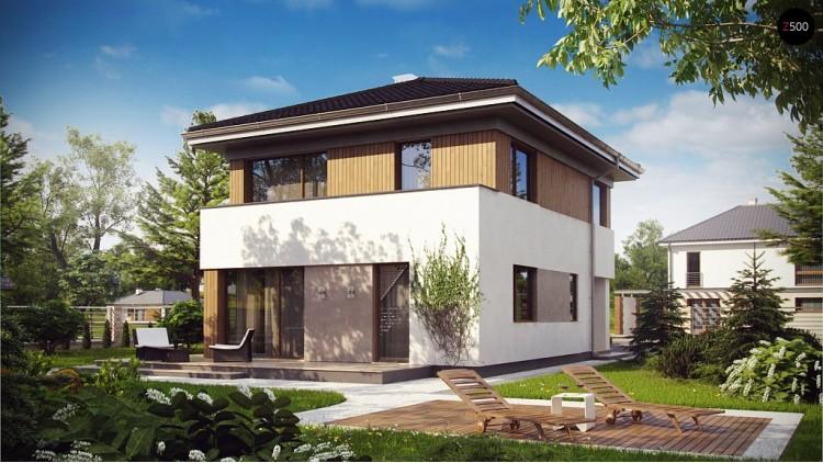 Проект компактного двухэтажного дома строгого современного стиля - Z295