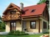 Проект компактного дом с мансардой и камином на террасе - Z3