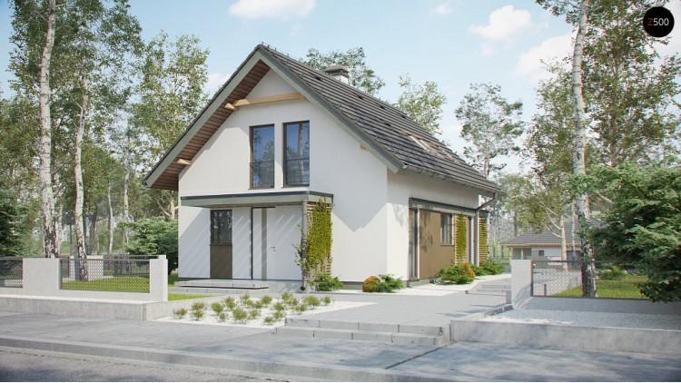 Проект Z302 Компактный и функциональный дом с мансардой в традиционном стиле.  Проекты домов и гаражей