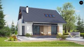Проект Z304 Проект простого в строительстве дома с двускатной кровлей.  Проекты домов и гаражей
