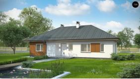 Проект Z307 Комфортный одноэтажный дом в традиционном стиле.  Проекты домов и гаражей