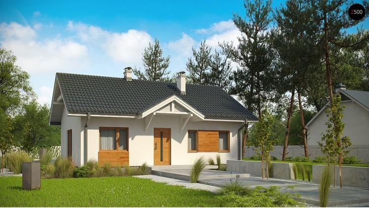Проект Z308 Компактный одноэтажный до в традиционном стиле.  Проекты домов и гаражей