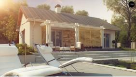 Проект Z309 Простой и элегантный одноэтажный дом.  Проекты домов и гаражей