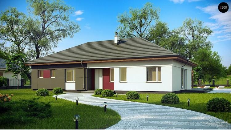 Проект Z310 Комфортный одноэтажный дом в традиционном стиле.  Проекты домов и гаражей