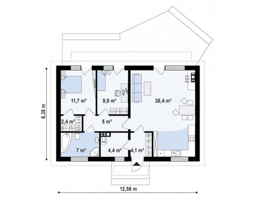 Проект Z313 Компактный Z313 сочетание в себе функциональность, экономичность и практичность.  Проекты домов и гаражей