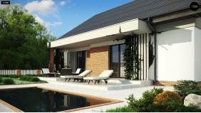 Проект Z316 Уютный дом с двускатной кровлей и возможностью обустройства мансарды.  Проекты домов и гаражей