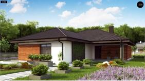 Проект Z317 Проект комфортного и функционального одноэтажного дома.  Проекты домов и гаражей