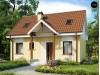 Проект компактного традиционного дома простой формы с двускатной крышей - Z32