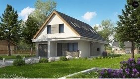 Проект Z324 Проект классического мансардного дома с монохромным дизайном экстерьера  Проекты домов и гаражей