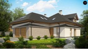 Комфортабельный мансардный дом с оригинальными элементами отделки фасадов