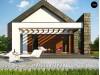 Проект Z330 Современный дом с двускатной крышей на узком участке  Проекты домов и гаражей