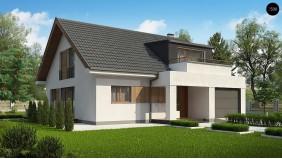 Проект Z331 Комфортный мансардный коттедж с современным дизайном экстерьера  Проекты домов и гаражей