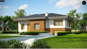 Проект Z337 Красивый и комфортный однэтажный дом с цоколем  Проекты домов и гаражей
