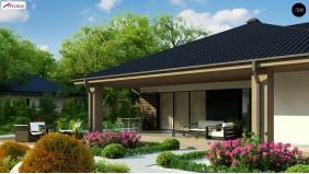 Проект Z344 Компактный одноэтажный дом стильного дизайна  Проекты домов и гаражей