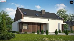 Проект Z346 Комфортный мансардный дом для двух семей.  Проекты домов и гаражей