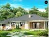 Проект одноэтажного дома с тремя спальнями и большим гаражом - Z35