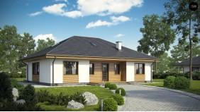 Проект Z35 bG Комфортный одноэтажный дом традиционного дизайна.  Проекты домов и гаражей