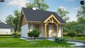 Проект Z352 Проект уютного гостевого домика  Проекты домов и гаражей