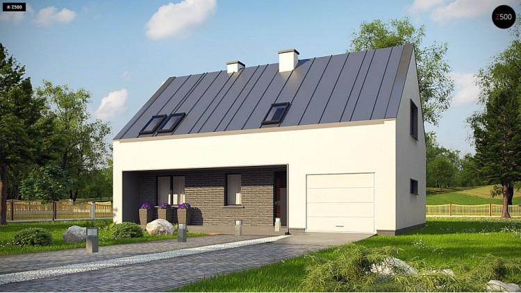 Проект Z353 Проект мансардного с тремя спальнями и двускатной крышей  Проекты домов и гаражей