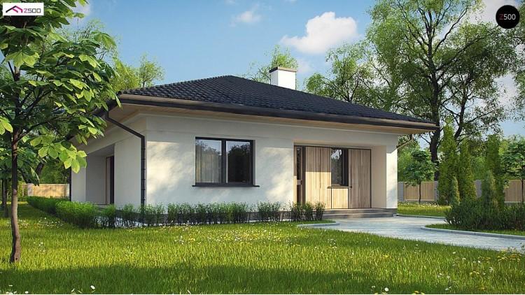 Проект Z354 Дом для узкого участка с 4-х скатной крышей  Проекты домов и гаражей