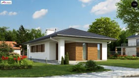 Проект Z355 Одноэтажный функциональный дом для небольшой семьи  Проекты домов и гаражей