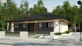 Проект Z368 D Аккуратный одноэтажный дом в традиционном стиле с продуманной планировкой  Проекты домов и гаражей
