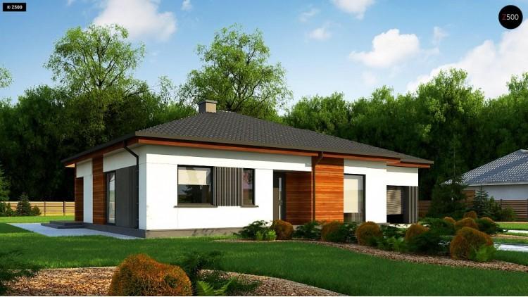 Проект Z375 Удобный одноэтажный дом небольшой площади  Проекты домов и гаражей