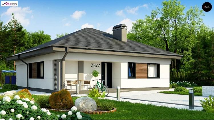 Проект Z377 Небольшой домик с удобной планировкой  Проекты домов и гаражей