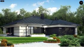 Проект Z378 Проект одноэтажного дома с гаражом на две машины  Проекты домов и гаражей