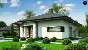 Проект Z383 Одноэтажный уютный дом современной планировки  Проекты домов и гаражей