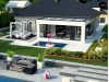 Проект Z384 Компактный одноэтажный коттедж с гаражом для одной машины  Проекты домов и гаражей