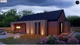 Проект Z386 Одноэтажный дом с дополнительным пространством на чердаке  Проекты домов и гаражей