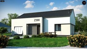 Проект Z390 Проект одноэтажного дома Z390 с гаражом на 1 машину и красивым белым фасадом  Проекты домов и гаражей