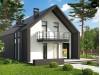 Проект Z393 Современный мансардный коттедж для узкого участка  Проекты домов и гаражей