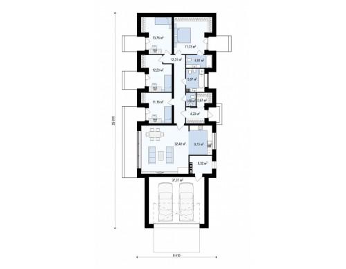 Проект Z395 Дом в необычном современном стиле для большой семьи  Проекты домов и гаражей