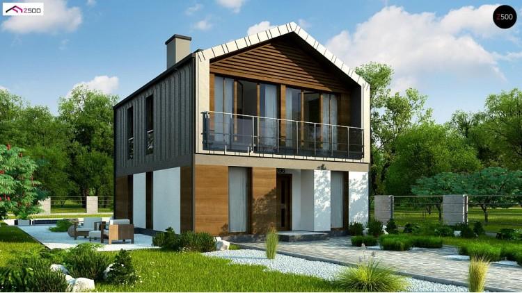 Проект Z396 Двухэтажный коттедж в европейском стиле с комнатой на первом этаже.  Проекты домов и гаражей