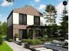Проект Z398 Двухэтажный проект дома с гаражом расположенным фронтально. Подойдет для узкого участка.  Проекты домов и гаражей