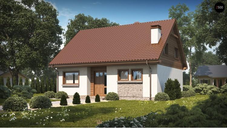 Проект Z40 os Версия проекта Z40 с альтернативным освещением мансарды.  Проекты домов и гаражей