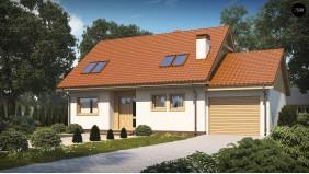 Проект Z40 GP Уютный мансардный коттедж с гаражом с правой стороны  Проекты домов и гаражей